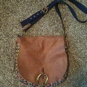 Lucky Brand Leather Boho Crossbody Bag